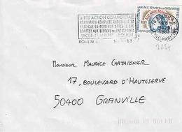 TP N° 2257 Seul Sur  Enveloppe De Rouen - Marcophilie (Lettres)