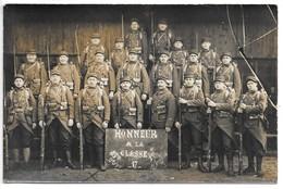 Carte-photo ... Militaria ... Nièvre...cosne... 83 Eme Régiment , 2 Eme Unité ,1 Ere Section ... Classe 17 ... - Régiments