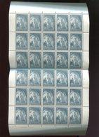 Belgie 1965 1334 Abbay Abbey Affligem Hekelgem Bier Biere Luppi Full Sheet MNH Plaatnummer 2 - Feuilles Complètes