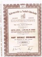 Titre Ancien - Faïencerie De Saint-Ghislain Société Anonyme -Titre De 1954 - Industrie