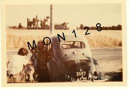 AUTOMOBILES VOITURE CREVAISON RENAULT 4 CV 1960 - PHOTO 12,5x9 Cms - Automobiles