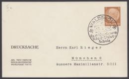 """Sst """"Waldbröl, Hitler-Schule"""", 15.1.38, Auf PP 122 B 4/10 - Deutschland"""