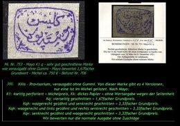 EARLY OTTOMAN SPECIALIZED FOR SPECIALIST, SEE...Mi. Nr. 753 -mayo K 1q - Kilis Provisurium -RR- - 1920-21 Anatolie