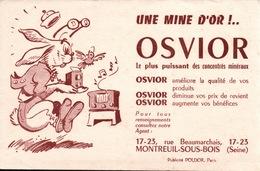 Ancien BUVARD Illustré OSVIOR à MONTREUIL SOUS BOIS - Blotters