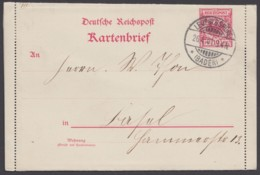 """K 4 Mit Rand, """"Leopoldshöhe"""" Nach Basel Mit Ankunft, 26.4.01 - Deutschland"""