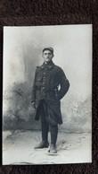 CPA PHOTO SOLDAT DE LA GUERRE 14 SOUVENIR DE VILLEFRANCHE DE ROUERGUE M GUYON 76 EME D INFANTERIE 30 EME COMPAGNIE - War 1914-18