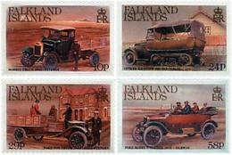 Ref. 49063 * NEW *  - FALKLAND Islands . 1988. VINTAGE VEHICLES. VEHICULOS ANTIGUOS - Islas Malvinas