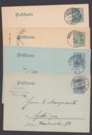 P 63 X/y, P 64 X/y, Bedarfskarten, Je Mit Und Ohne Wasserzeichen - Deutschland