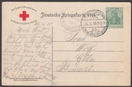"P 100 I A ""Rotes Kreuz"", Feldpost, 4.7.15, Interes. Text! - Deutschland"