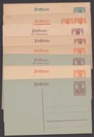 """""""Germania"""", Geteilte Anschriftseite, 8 Versch. Karten, Dabei 3 Doppelkarten, Ungebraucht - Deutschland"""