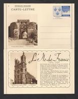 Carte Lettre Illustrée Armoiries Île De France N° 9 Provins 1938 STORCH N3d  Neuve - Letter Cards