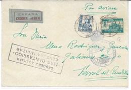 España, Frontal De Carta Circulada Con Sellos Y Franquicia Naval - 1931-Today: 2nd Rep - ... Juan Carlos I