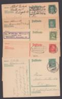 """Aus P 170/77 F, 5 Versch. Bedarfskarten """"Persönlichkeiten"""", Dabei Auch Ausland! - Germania"""