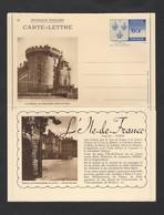 Carte Lettre Illustrée Armoiries Île De France N° 10 Rambouillet 1938 STORCH N3e  Neuve - Entiers Postaux