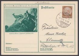 """P 202/15 """"Hamburg"""", Wertzeichen überklebt, """"Drucksache"""", Pass. Stempel, 5.3.38 - Deutschland"""