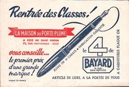 Ancien BUVARD Illustré LA MAISON DU PORTE PLUME Le 4 De BAYARD - Stationeries (flat Articles)
