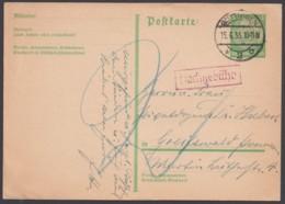 """P 216 I, Bedarfs-Fernkarte """"Göttingen"""", 15.6.33, Mit Nachgebühr - Deutschland"""