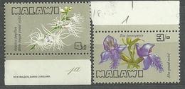 Malawi - Flowers, Flores, Fleurs, Fiori, Blumen, Kwiaty, Nature, Plants, Flora, Orchids - 2v Incomplete Set - Orchids
