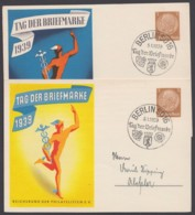 """P 239/01 + /02 """"Tag Der Briefmarke"""", 1939, Beide Karten Sst """"Berlin SO 16"""" - Deutschland"""
