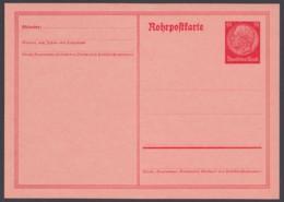 """RP 25, """"Hindenburg"""", Rohrpostkarte, Ungebraucht - Deutschland"""