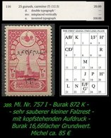 EARLY OTTOMAN SPECIALIZED FOR SPECIALIST, SEE...Mi. Nr. (757 I) - Mayo 116 N - Plattenfehler -R- - 1920-21 Anatolie