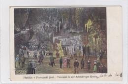 PLESISCE V POSTOJNSKI JAMI. TANZSAAL IN DER ADELSBERGER GROTTE. A BOLE. CPA VOYAGEE CIRCA 1900s  - BLEUP - Slovenia