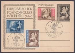 """P 294 Mit Zusatzfr. 820/2, Pass. Sst """"Wien"""", 18.10.42 - Deutschland"""