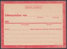 """""""Lebenszeichen""""-Karte, Rot DV : StdW 4305 43 - Deutschland"""