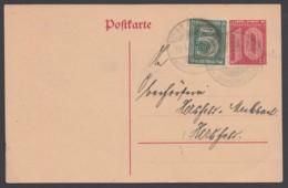 DP 4, Bedarf Mit Zusatzfrankatur D 16 - Deutschland