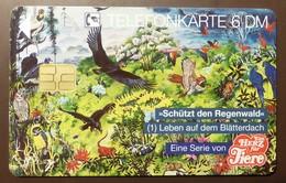 O 1414  07.94    6 DM  Mint Voll    Ein Herz Für Tiere  #TK27 - Alemania