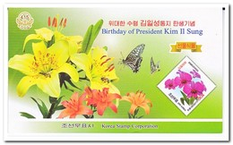 Noord Korea 2011, Postfris MNH, Flowers, Insects, Butterflies ( Booklet ) - Korea (Noord)