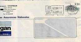 TP N° 2289 Seul Sur Enveloppe De Granville - 1961-....