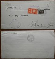 Italia Piego Integro 1941 (leva Militare) Dal Comune Di Chisalba Al Comune Di Rovetta Con Fino. - 1900-44 Vittorio Emanuele III