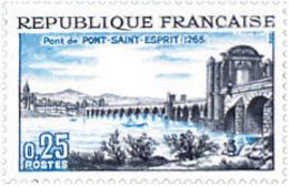 Ref. 122086 * NEW *  - FRANCE . 1966. 7th CENTENARY PONT-SAINT-ESPRIT BRIDGE. 7 CENTENARIO DEL PUENTE DE PON-SAINT-ESPIR - Francia