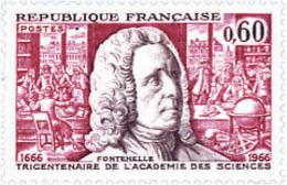 Ref. 122091 * NEW *  - FRANCE . 1966. 3rd CENTENARY OF PARIS SCIENCES ACADEMY. 3 CENTENARIO DE LA ACADEMIA DE CIENCIAS; - Francia