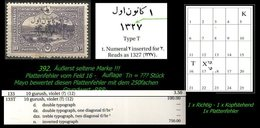 EARLY OTTOMAN SPECIALIZED FOR SPECIALIST, SEE...Mi. Nr. (761 II) - Mayo 133  T + Tn  - Plattenfehler -RRR- - 1920-21 Anatolie