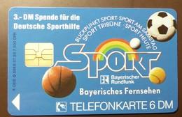 O 088B  07.93    6 DM  Mint Voll    Bayerisches Fernsehen Sport  Eishockey #TK31 - Allemagne