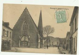 Belle Cpa  Mazangé (L.&.C.) . L'Eglise ,  Bien Animée - France