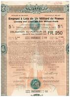 Titre Ancien - Royaume De Belgique - Emprunt à Lots De 1 Milliard De Francs- Dommages De Guerre 1922 - 5% - Actions & Titres