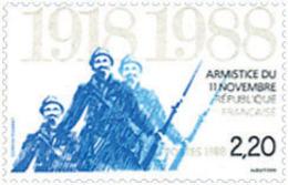 Ref. 124025 * NEW *  - FRANCE . 1988. 70th ANNIVERSARY OF NOVEMBER 11th; 1918 ARMISTICE. 70 ANIVERSARIO DEL ARMISTICIO D - Francia
