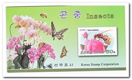 Noord Korea 2009, Postfris MNH, Insects, Flowers ( Booklet ) - Korea (Noord)