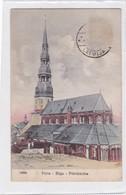 PIIRA RIGA PETRIKIRCHE. STENGEL & CO. CPA OBLITERE 1921 TIMBRE ARRACHE  - BLEUP - Lettonia