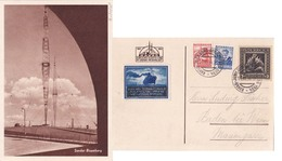 Austria 1934 P/c Radio Masts Fro Ravag Jubilee Ausstellung With Special D.s. - 1918-1945 1st Republic