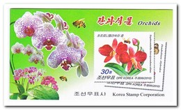 Noord Korea 2010, Postfris MNH, Orchids, Butterflies, Insects, Flowers ( Booklet ) - Korea (Noord)