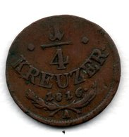 Autriche  -  1/4 Kreuzer 1816 A  -  Km # 2107  -  état  TB+ - Austria