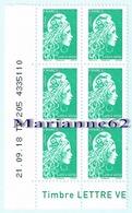 France 2018 Coin Daté X6TP Marianne L'engagée Tarif LV - 21-09-18 TD 205 4335110 - Coins Datés