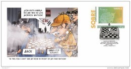 Spain 2015 - Prepaid Cover Chess Series - Sherlock Holmes & Dr. Watson Special Cancellation - Ajedrez