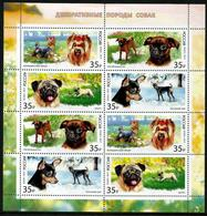 Russia 2019 Sheetlet Decorative Toy Dogs Dog Animals Fauna Mammals Nature Animal Mammal Stamps MNH - 1992-.... Federation