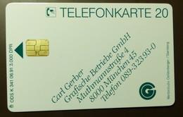 K  341  06.91  6 DM  Mint Voll  Gerber München   #TK37 - K-Series : Série Clients