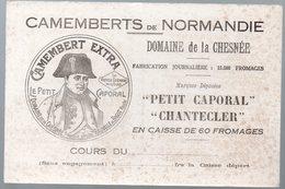 Buvard CAMEMBERTS DE NORMANDIE Domaine LA CHESNEE Le Petit Caporal (PPP10504) - Alimentaire